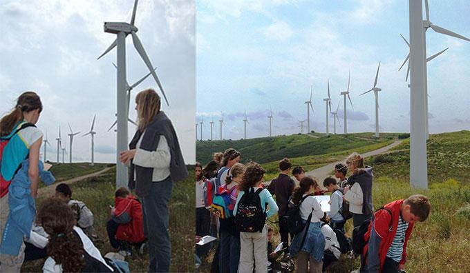 Les éoliennes d'Aumelas