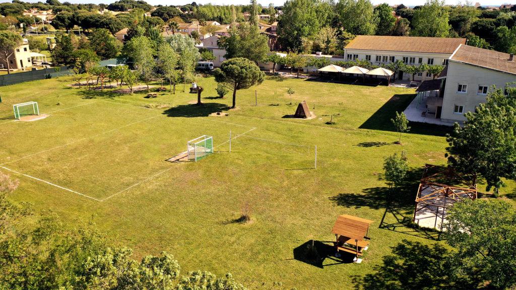 Vue aérienne du centre Le Cosse du Grau d'Agde